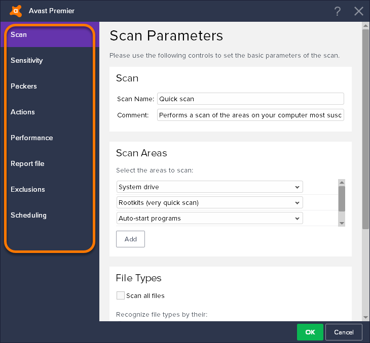 how to do avast boot scan