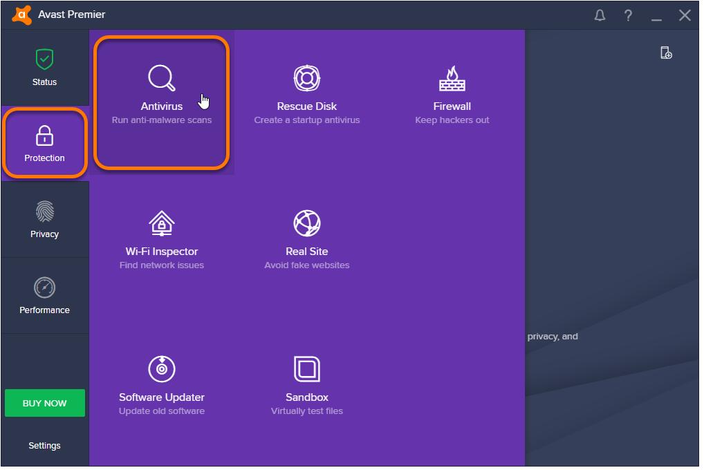 configure avast antivirus